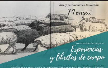 Socialización del proyecto Experiencias y libretas de campo en Monguí