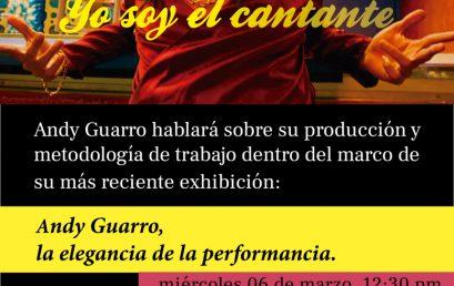 Charla Yo soy el cantante de Andy Guarro