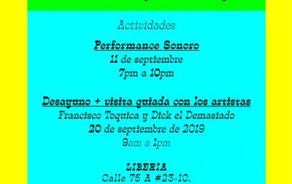 Performance Sonoro en el marco de la exposición Hablemos por sky