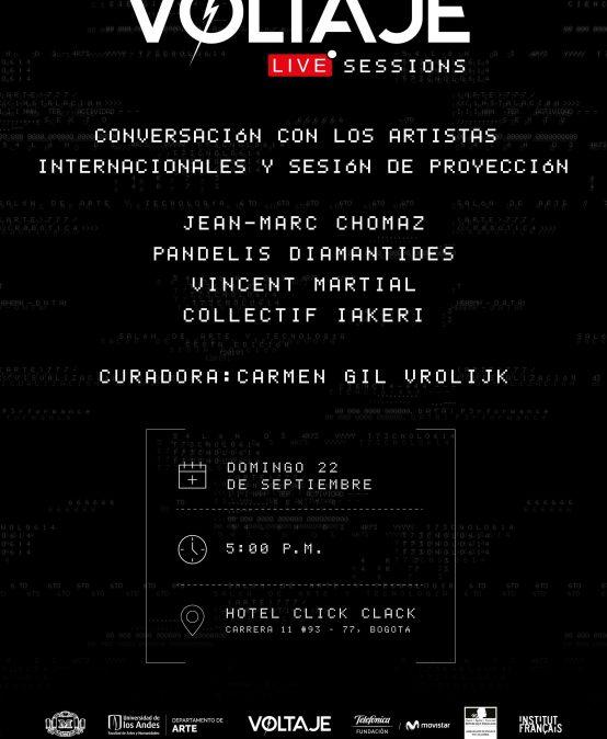 Voltaje sessions & conversación con artistas internacionales