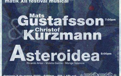 Matik XII Festival Musical | Mats Gustafsson y Christof Kurzmann, & Asteroidea