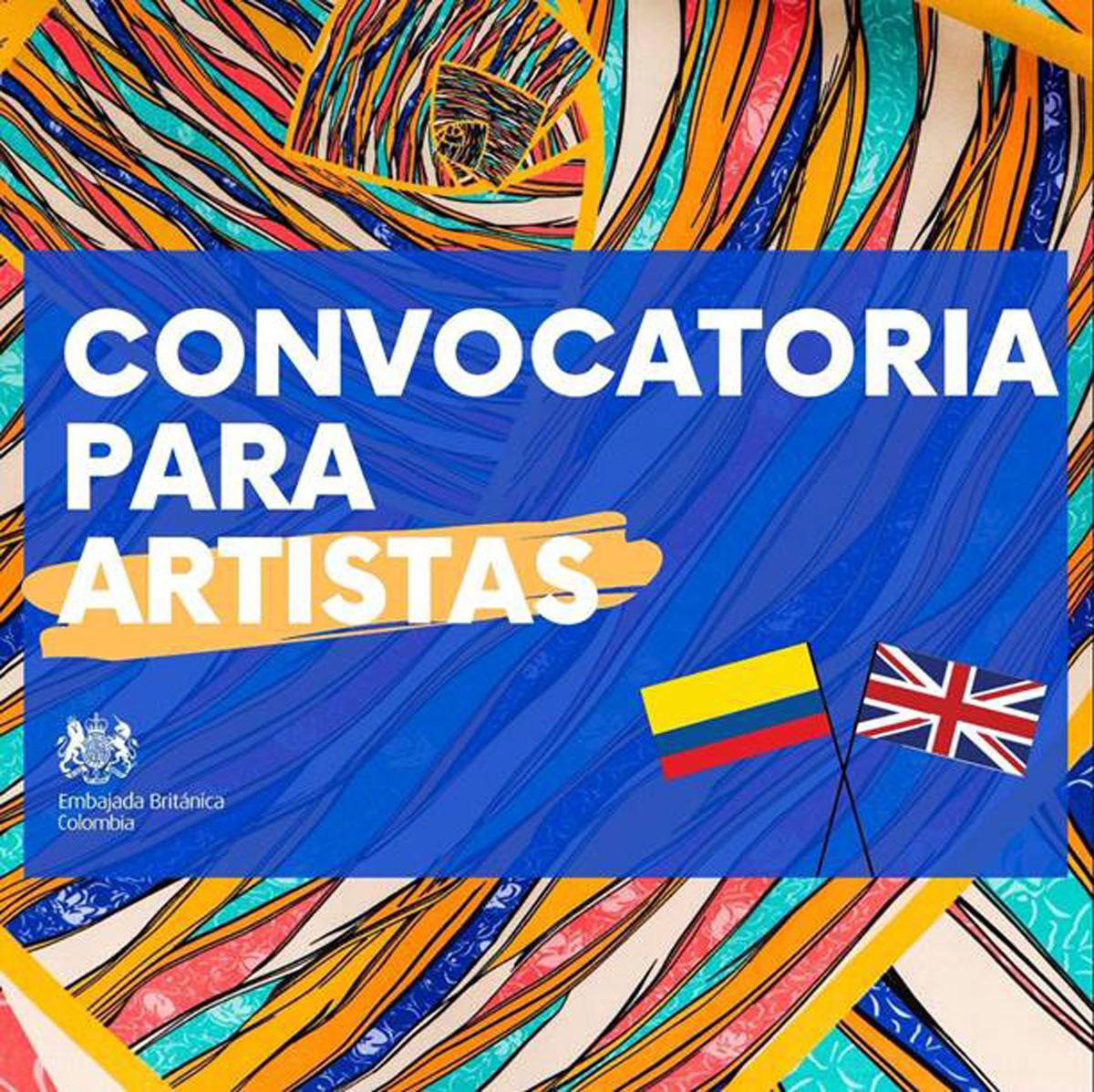 Convocatoria para artistas- Embajada Británica Colombia