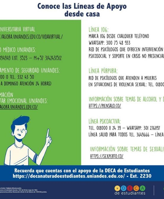 Información de las Líneas de Apoyo-Decanatura de estudiantes