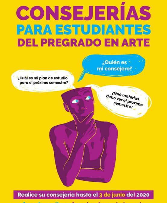 Consejerías para estudiantes del pregrado en Arte