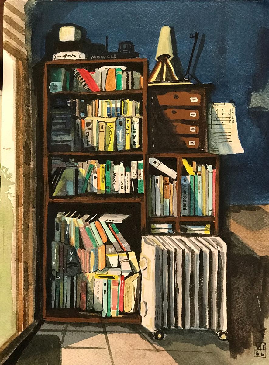 La biblioteca de mi cuarto  – Francisco Viveros