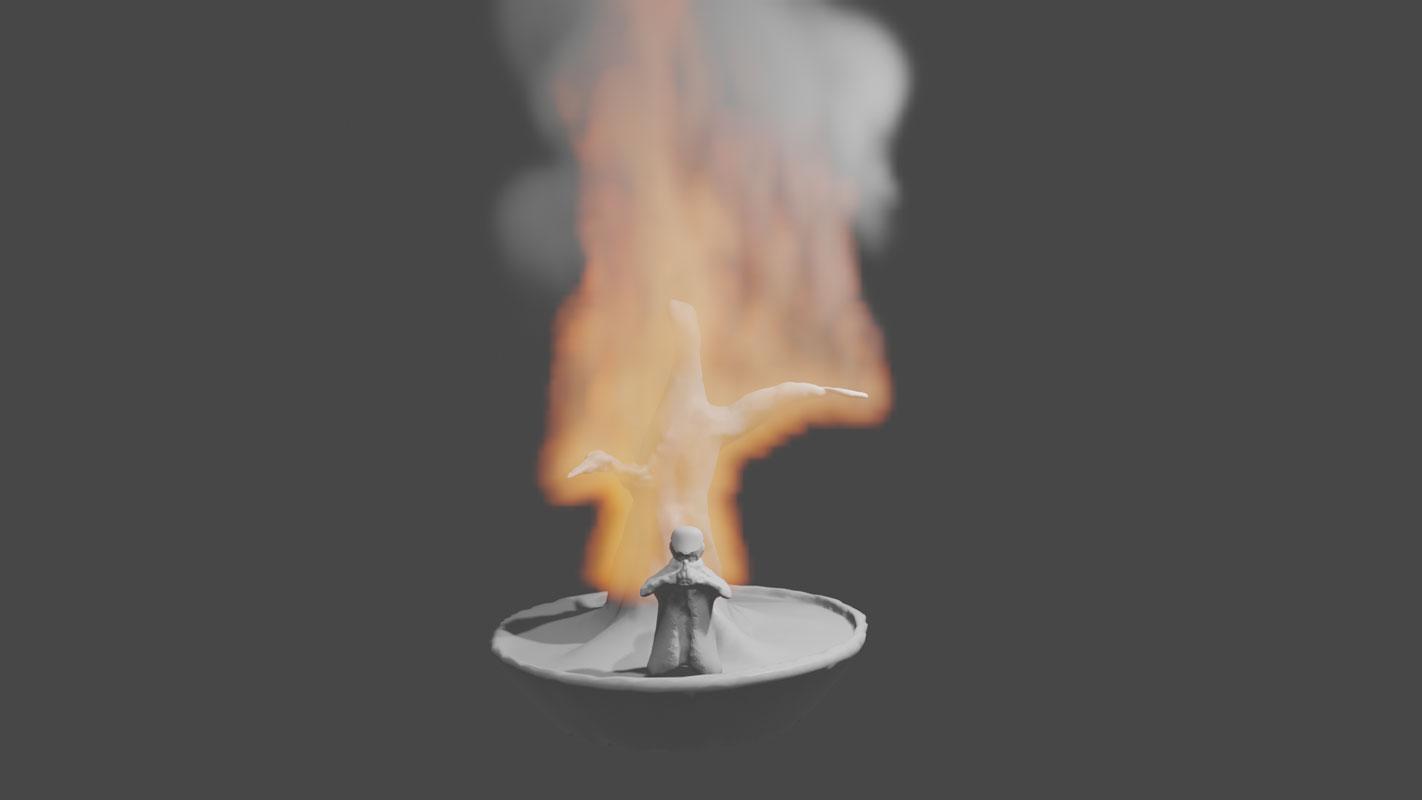 Monje en fuego – Alejandro Caicedo