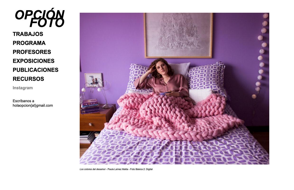 La opción en Fotografía del Departamento de Arte lanza nueva página