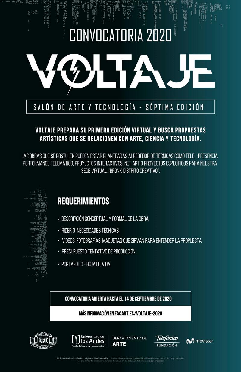 Convocatoria Voltaje, Salón de Arte y Tecnología | Séptima edición