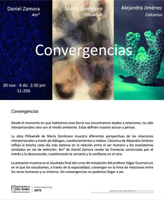 Exposición Convergencias: entrega final taller Instalación