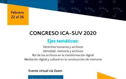 Congreso virtual Memoria, derechos humanos y buenas prácticas en archivos universitarios y de investigación