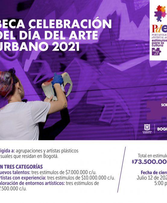 Beca Celebración del Día del Arte Urbano 2021