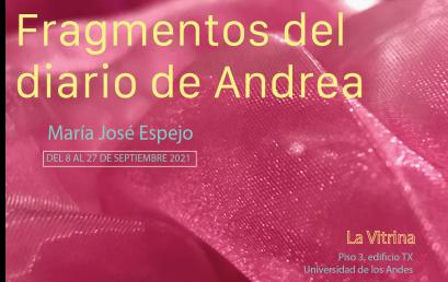 Exposición Fragmentos del diario de Andrea   Sala de Proyectos   Uniandes
